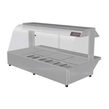 Woodson 4 Module Curved Hot Food Display