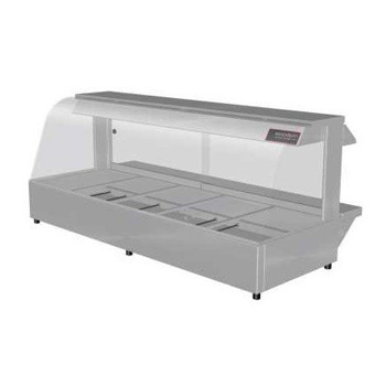 Woodson 5 Module Curved Hot Food Display