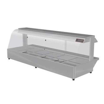 Woodson 6 Module Curved Hot Food Display