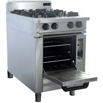 4 Burner Cooktop with Oven