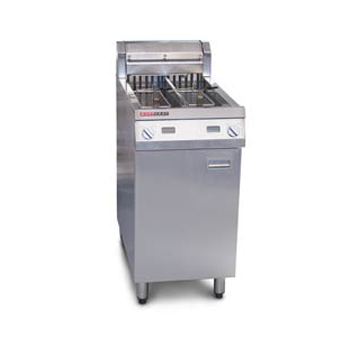 Austheat Single Split Pan Fryer 2 Basket