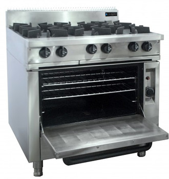 6 Burner Cooktop with Oven