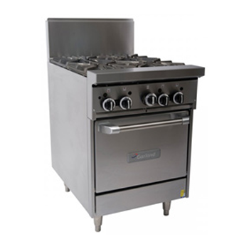 Garland GF24-4L Restaurant Series Gas 4 Open Top Burners Space Saver Oven