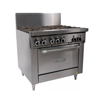 Garland Restaurant Series Gas 6 Open Top Burners Standard Oven