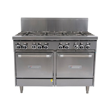 Garland Restaurant Series Gas 8 Open Top Burners 2 Space Saver Ovens
