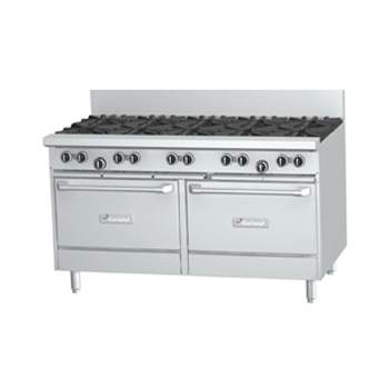 Garland GF60-10RR Restaurant Series Gas 10 Open Top Burners 2 Standard Ovens
