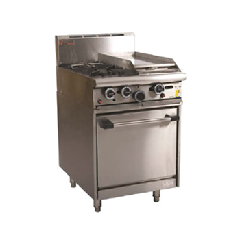 Trueheat R60-4 Gas 4 Open Top Burners Gas Oven