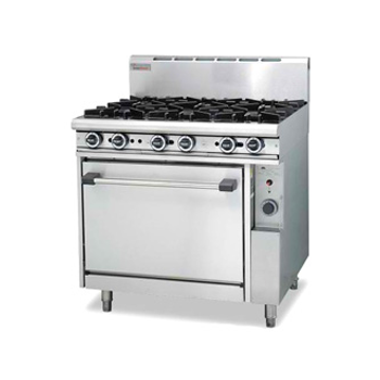 Trueheat R90-6 Gas 6 Open Top Burners Gas Oven