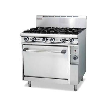 Trueheat R90-6 Gas 6 Open Top Burners Gas Oven