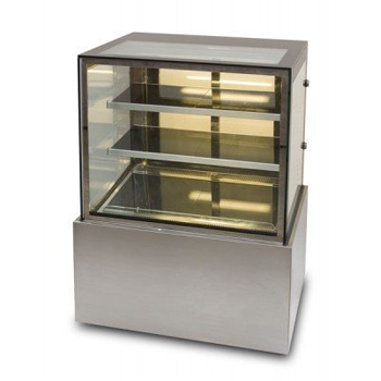 Anvil DHV0730/40/50 Showcase Straight Glass Cake Display - Hot