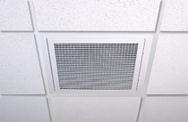 Traditional Crate Filtered Air Return W/Reusable Filter 20 x 20 Square back - White, Black