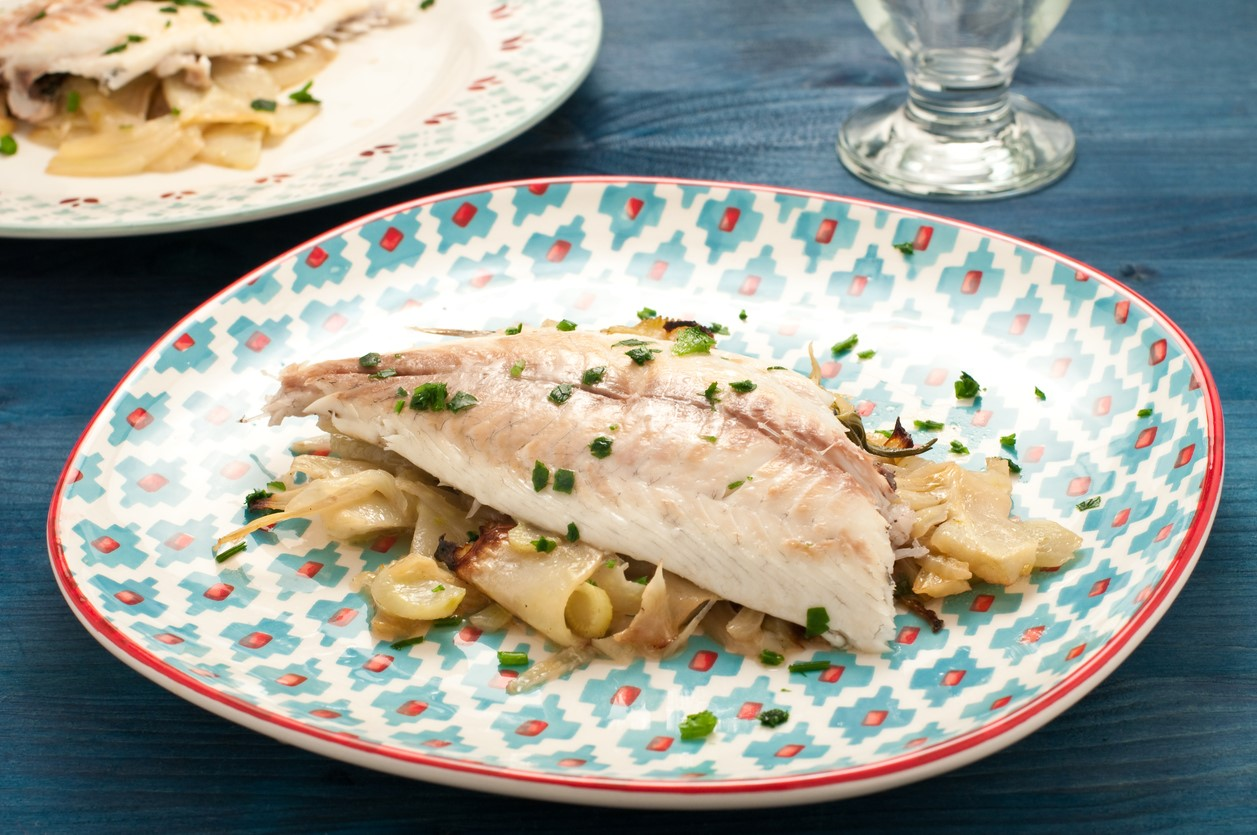 Oven Roasted Seam Bream with Fennel