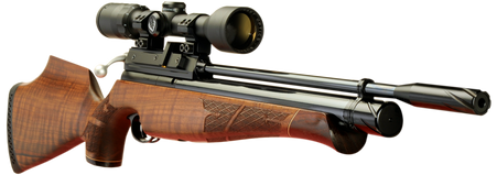 Keen's Tackle & Guns Stock The Air Arms S410 Beech Multi-Shot Air Rifle with inline 20 micron filter and adjustable two stage trigger.