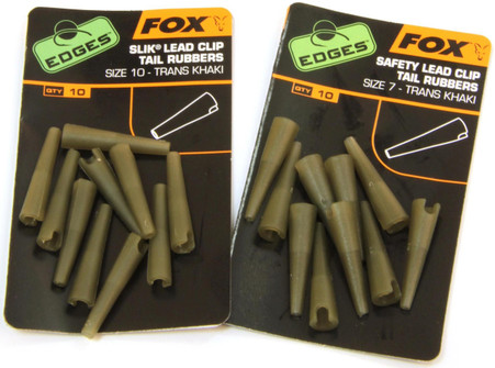 Fox Edges Lead Clip Tail Rubbers Size 10 - Keen's Tackle and Guns