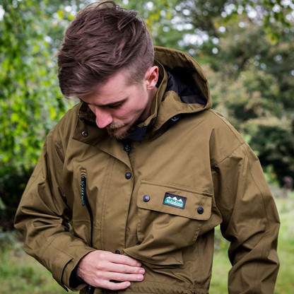 Ridgeline Monsoon Classic Smock Teak is waterproof and Breathable and comes in a Quiet lightweight 3 Layer laminated shell