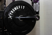 XtremeFit All Black Olympic and Power Bar (Mens 20 kgs)