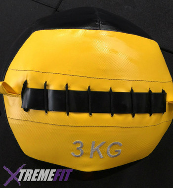 3kg Wall Ball for CrossFit exercises like wall balls, medicine ball cleans, sit ups, wall ball thrusters and more.