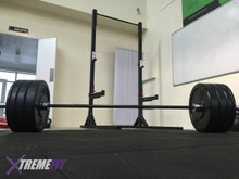 Squat/Pull Up Rack & 100 KG Bumper Plate and Bar combo (RRP $2,100)