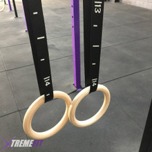 Wooden Gymnastic Rings incl straps