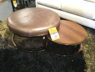 Round Bunching Cocktail Ottomans