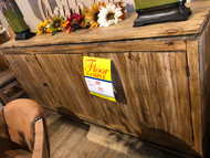 Distressed Wood Credenza