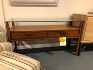 Wood and Glass Console