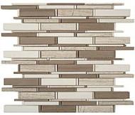 GT Glass Cascade Wooden White + Athen Gray + Thassos Mix CS-94