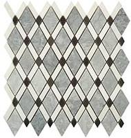 GT Glass Diamond  Mugworth, Thassos White, Basalt DS-57