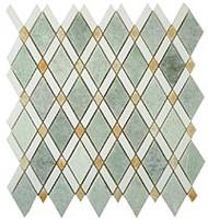 GT Glass Diamond Ming Green, Thassos White, Honey Onyx  DS-58