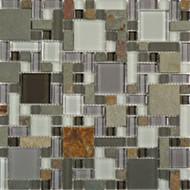 GT Glass Glass & Slate Block Random Sag Harbor Gray GS23