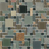 GT Glass Glass & Slate Block Random Forest Floor GS27