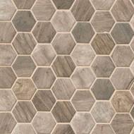 MSI Driftwood Hexagon Mosaic SMOT-GLS-DRIFT6MM