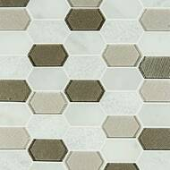 MSI Inessa Blanco Picket Pattern Mosaic SMOT-SGLSPK-INEBLA8MM
