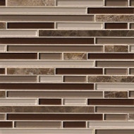MSI Royal Oaks Blend Interlocking Mosaic THDWG-SGL-ROBI-8MM