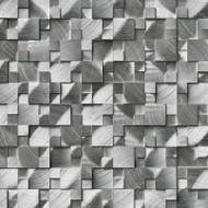 MSI Silver Aluminum Brushed 3D Pattern Mosaic SMOT-MET-SLVAL