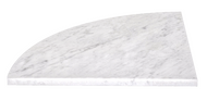 Bianco Carrara 18 x 18 - Corner Seat