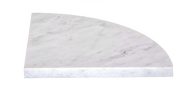 Bianco Carrara 9 x 9 Corner Shelf