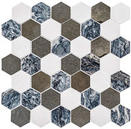 "GT Glass Colonial Series 2"" Hex Presidential Grey CLNL270"