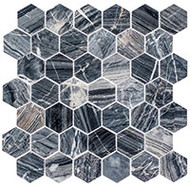 "GT Glass Colonial Series 2"" Hex Salem Charcoal CLNL277"