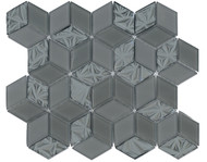DBK MCI Mirage Glass Diamond Hex Charcoal Grey