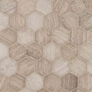 MSI Honeycomb Hexagon Marble Mosaic SMOT-HONCOM-2HEX