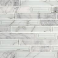 MSI Blocki Blanco Interlocking Mosaic SMOT-SGLSIL-BLOBLA8MM