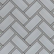 MSI Ice Bevel Herringbone Mosaic SMOT-GLS-ICEBEHB8MM