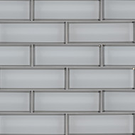 MSI Ice Bevel Subway 2 x 6 Mosaic SMOT-GLSST-ICEBE8MM