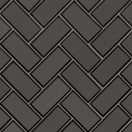 MSI Metallic Gray  Bevel Herringbone Mosaic SMOT-GLS-MEGRBEHB8MM