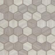 MSI Silva Oak Hexagon Mosaic SMOT-GLS-SILVA6MM