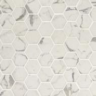 MSI Statuario Celano Hexagon Mosaic SMOT-GLS-STACEL6MM