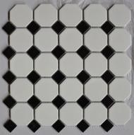 "Arvex Octagon 2"" White With Black Dot"