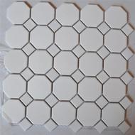 """Arvex Octagon 2"""" White With White Dot"""