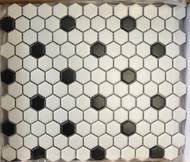 "Arvex Hexagon 1"" Black/White"